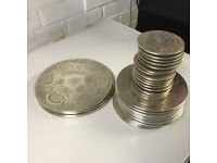 Set of Silver plate table mats