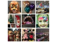 Professional party balloons face painting