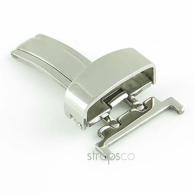 Stainless Steel Folding Clasp - StrapsCo Single Fold Butterfly Deployment Clasp Watch Buckle pvd Stainless Steel