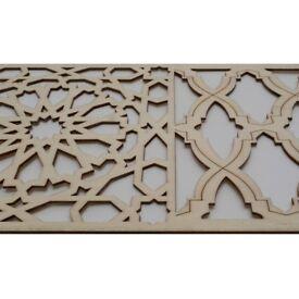 Moroccan Decorative Panels 90cm by 9.9 cm carpentry plaque, trim, beading