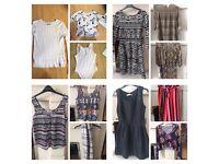 Bulk Ladies RRP £500 H&M River Island temt Zara Top Shop Dotti Lonsdale New Look Size8/10 18 items