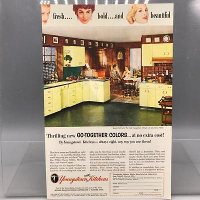 Vintage Magazine Ad Print Design Advertising Youngstown Kitchens
