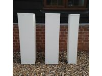 3 x White Art Sculpture Gallery Plinths for FREE! Must go by Sun 21st Aug
