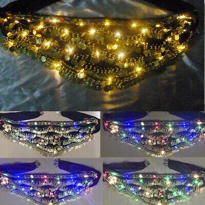 LED Belly dance Hip Skirt LED show Festival Costume Burning man Lights hip belt