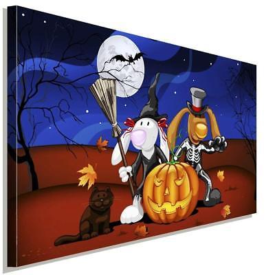 Happy Halloween Kinder Leinwandbild AK Art Bilder Wanddeko Wandbild Kunstdruck