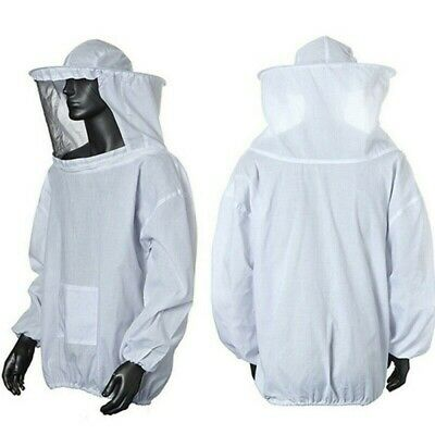 Beekeeper Beekeeping Jacket Protective Veil Smock Bee Hat Suit Clothes Equipment