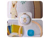 Polar Bear Cross Stitch Padded Hoop Kit