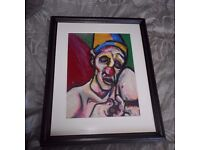 Death Of A Clown, Kevin O'Rorke Original Pastel