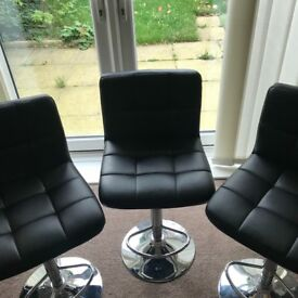3 bar stools - black. Good as new condition
