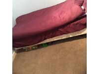 Single divine bed with mattress and accessories only 40£