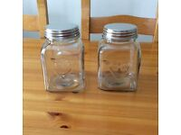 Two heart glass kitchen storage containers from TKMaxx