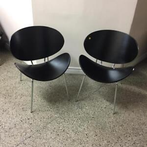 Wood and Chrome accent chairs brand new