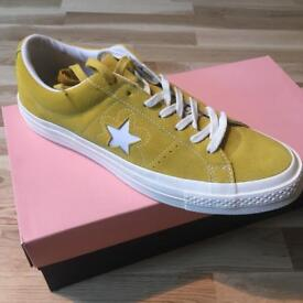 Converse One Star X Tyler The Creator Golf Le Fleur (Suede, Sulphur, UK 11) (NEW)