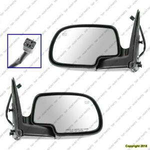 Door Mirror Power Driver Side Heated Man Fold Without Puddle Lamp Ptm Chevrolet Silverado 1999-2002
