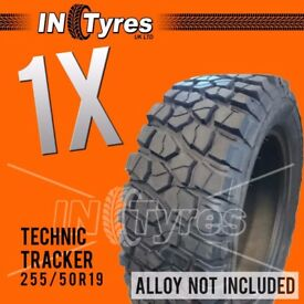 1x 255/50r19 Kingpin Technic Mud Terrain MT 255 50 19 Retread Tyres Like BFG