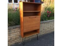 Mid Century Meredew Teak Shelving/Bureau Bookcase Unit Vintage Retro Hairpin Legs