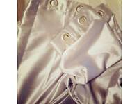 Beautiful silver pair of curtains