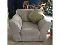 Cream Chenille Armchair