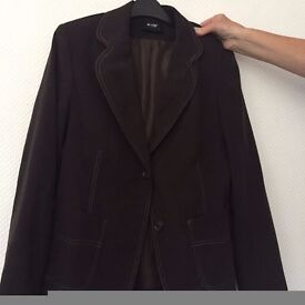 Ladies lined jacket - brown - Size 14 (small)