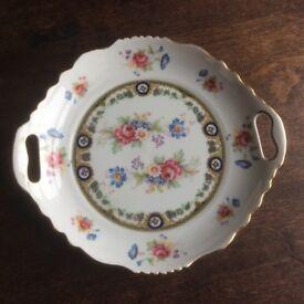 Porcelain Plate - Floral Decoration