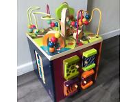 Zany Zoo Large Wooden Toddlers Activity Cube