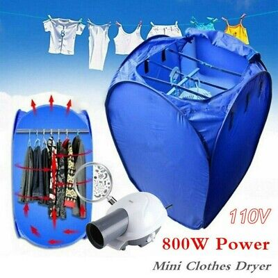 800W Portable Electric Air Heater Clothes Dryer Rack Folding Drying Machine Pump