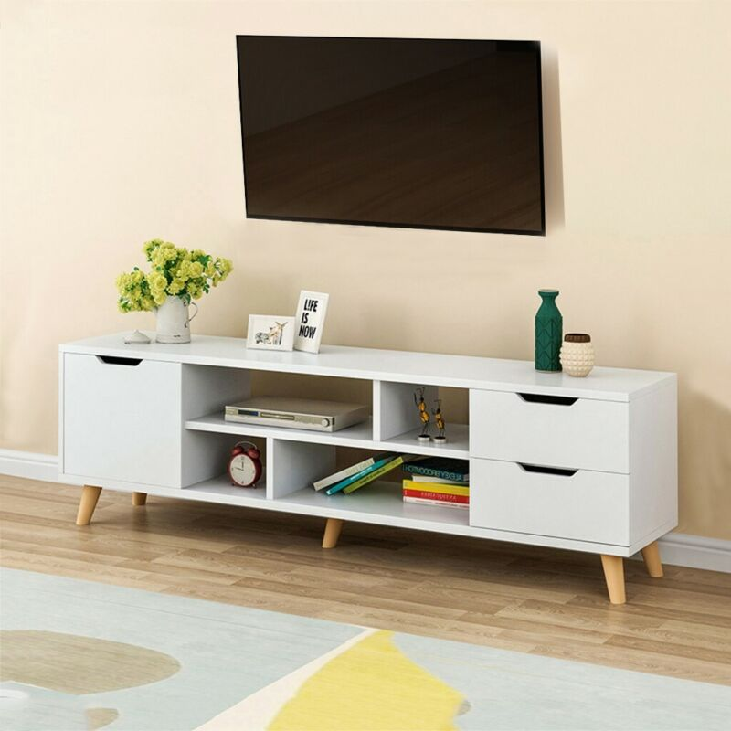 Modern 55'' TV Stand Unit Cabinet W/ 3 Drawers Console Table