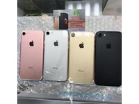 APPLE IPHONE 7 128GB UNLOCKED BRAND NEW CONDITION COMES WITH WARRANTY & RECEIPT