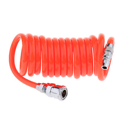 9.8ft Recoil Air Hose Re Coil Spring Ends Pneumatic Compressor 12 Swivel