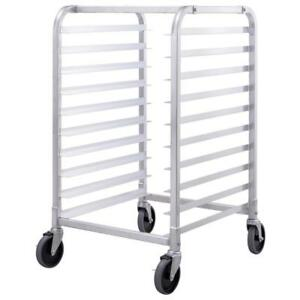 10 Sheet Aluminum Bakery Rack Rolling Commercial Cookie Bun Pan Kitchen - BRAND NEW - FREE SHIPPING