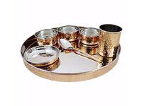 Buy Handmade Copper Dinner Set Online