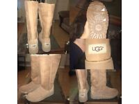 New Kara tall chestnut UGG boots size 4.5