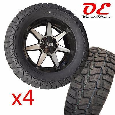 """07-17 JEEP WRANGLER JK 5X5 20"""" Wheels + 35"""" All Terrian Tires SET Rev Offroad"""