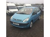 2002 CITREON Picasso Xsara nice clean good driving car 1 years mot any trial welcome bargain px welc