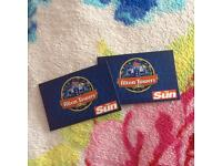 2 Alton Towers tickets, Fri 25th Aug