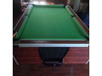 REDUCED pool table with balls and other accessories
