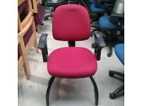 Verco visitor chair in dark red fabric