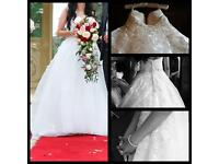 Beautiful Ivory Lace & Tulle Strapless Sweetheart Neck Wedding Dress Size 6 to 8