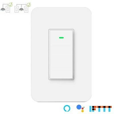 Nexete 3 Way or Single Pole Smart Light Switch Wi-Fi Remote Control Alexa Google