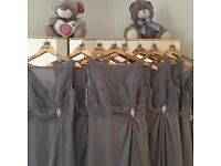 Hilary Morgan Platinum grey bridesmaids dresses x8 paid 225 per dress! 70 per dress