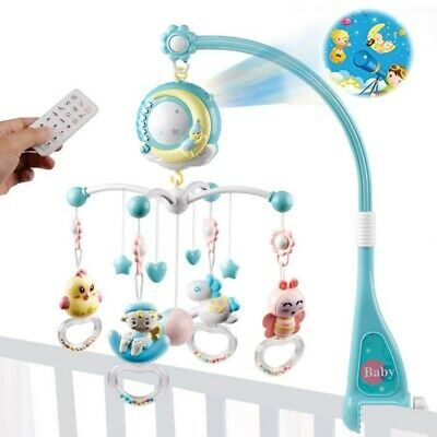 150 Melodies Bed Bell Kids Crib Musical Mobile Cot Music Box Baby Rattles -
