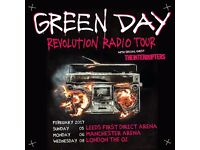 4x Green Day standing tickets, Wednesday 8th February 2017, London O2 arena