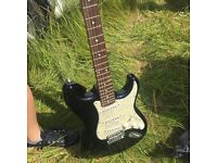 Electric guitar mother of pearl inset