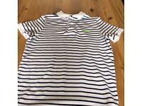 – Mens SuperDry Pique Stripe Polo Shirt