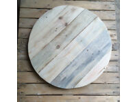 Reclaimed Wood Cafe Table Tops 70cm Diameter. HANDMADE