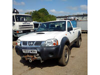 Nissan D22 2.5 DI 4X4 pick up truck with Sat Nav and Front Winch