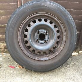 "Corsa D 14"" steel wheel with GOOD TYRE 185/70 R14"