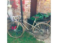 Retro Ladies 80's gold racer bicycle FOR SALE £45.00 Tottenham