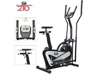 Fitnessform® ZGT® Z10 Cross Trainer 2-in-1 Fitness Elliptical Exercise Bike - Black