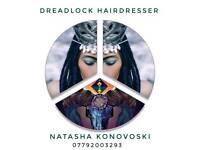 Dreadlock extensions. Call natasha for free consultation WhatsApp +447792003293